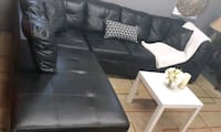 Black leather sectional/delivery available Mississauga, L4Y 1P2