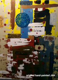 Large original one-of-a-kind hand-painted abstract Miami Beach, 33139