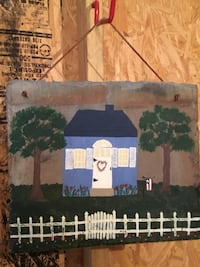 blue house painting