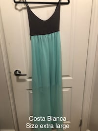 Teal blue and gray sleeveless dress Bradford West Gwillimbury, L3Z 0G8
