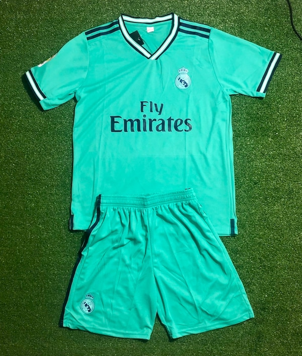 check out adcd3 53c22 Real Madrid Away Soccer Uniform Jersey and Short New Season 2019/20. New
