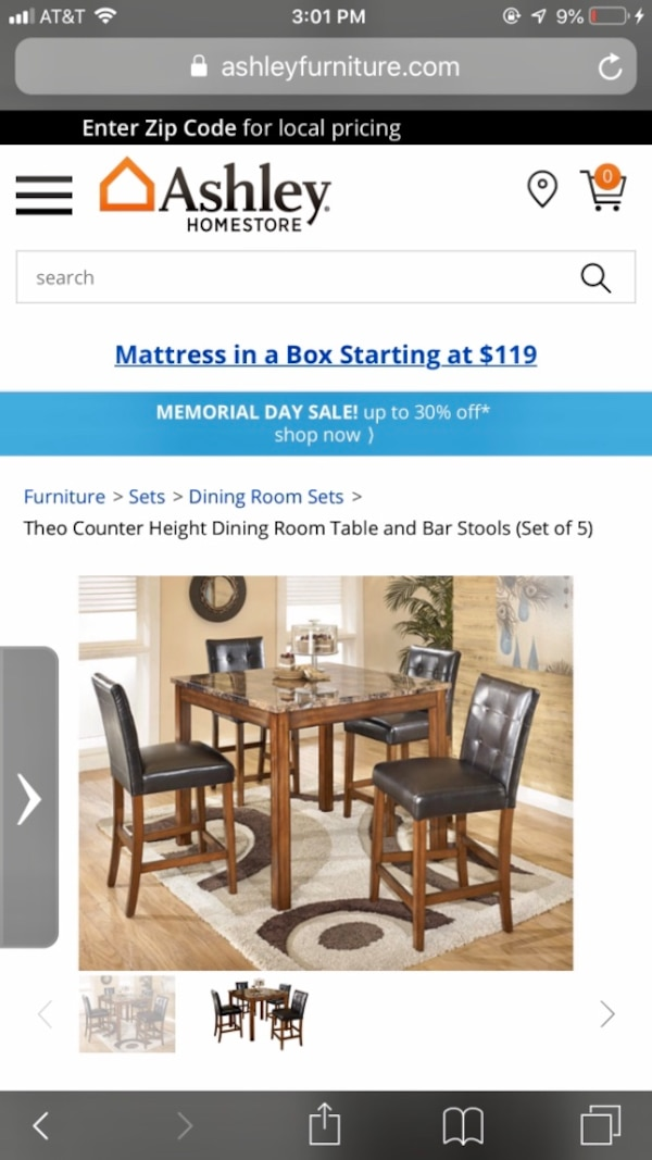 Brilliant Theo Counter Height Dining Room Table And Bar Stools Set Of 5 Gmtry Best Dining Table And Chair Ideas Images Gmtryco