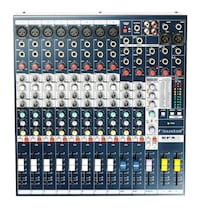Soundcraft 8 channel mixer with fx