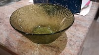 Vintage avocado green glass bowl from the 1970's Mississauga
