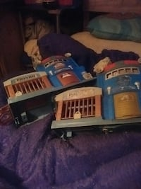 two blue-and-gray Prison plastic toys Union, 39365