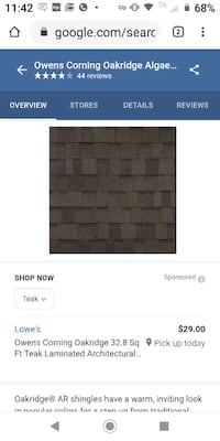 Brand new architectural shingles unopened