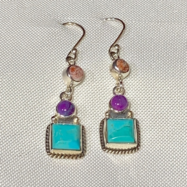 Genuine Navajo Sterling Silver Turquoise Earrings b489d7a8-7422-4fab-b7f0-a071369f4833