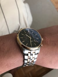 Citizen Round Two Tond gold & silver chronograph watch with link bracelet Bedford, 10506