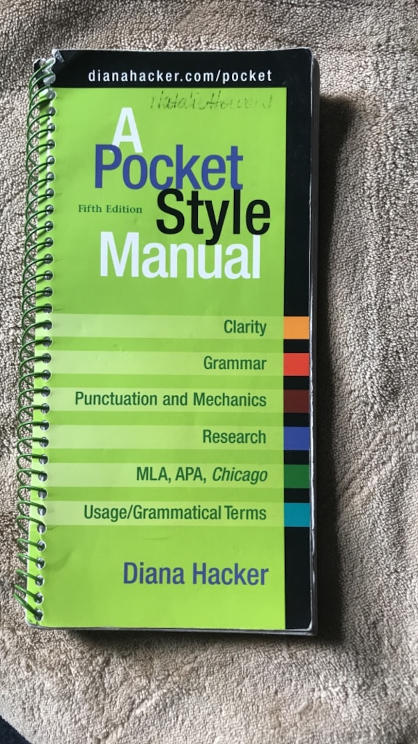 Used A Pocket Style Manual For Sale In East Lansing Letgo