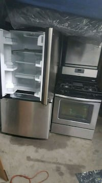 black and white top mount refrigerator Queens, 11375