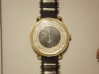 Gold Black Iced Bullet Band Watch Reston