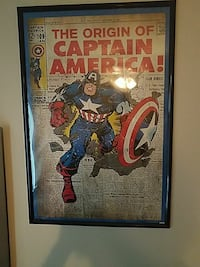 Marvel wall posters in frames