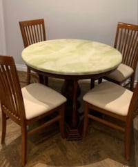 Lovely Marble top round table #42inch #circle #classic #4 chair Markham, L6B 1A8