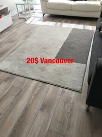 gray and white area rug Vancouver, V6B 5M9