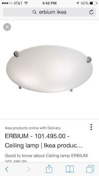 New- IKEA ceiling light  Fairfax, 22030