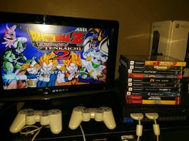 Ps2 combo  and games and 19 inch tv