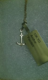 10kt solid gold anchor pendant
