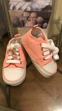 baby's pair of white-and-pink high top sneakers Toronto, M4M 2G3