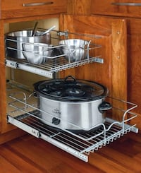 Base Cabinet Pull-Out Chrome Wire Basket Toronto, M9B