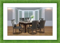 Marble dining table brand new with free shipping and 4 chairs HYATTSVILLE