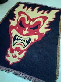 black and red face printed area rug Albuquerque