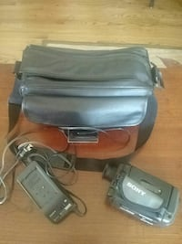 black Sony handycam with battery charger and bag Bel Air, 21014
