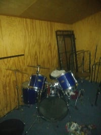 blue drum kit