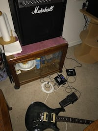 PRS guitar and Marshall amp Bristow, 20136