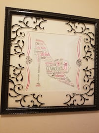 white and black floral photo frame Fort Mill