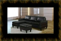 Black sectional with ottoman 23 mi