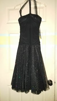 Black Glitter Halter Top Dress Virginia Beach, 23464