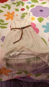Girls lace children's place high low ivory dress with belt - size 7/8 Phoenixville, 19460