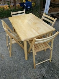 table and 4 folding chairs Arlington