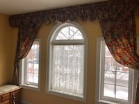 Valence and two curtain panels