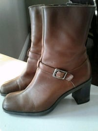 Nine west leather boots size 7.5 Kitchener, N2K 4J7