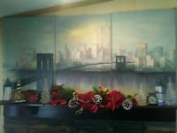 Painting of twin towers new York Holden, 04429