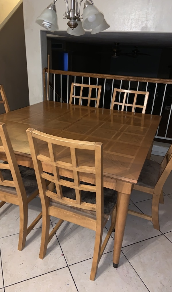 Large Square Wood Table