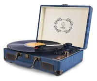 Record Player, LUKER Portable Suitcase Bluetooth Turntable for Vinyl