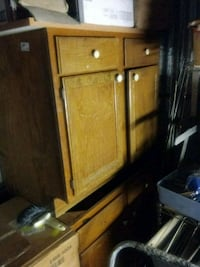 brown wooden cabinet with drawer West Monroe