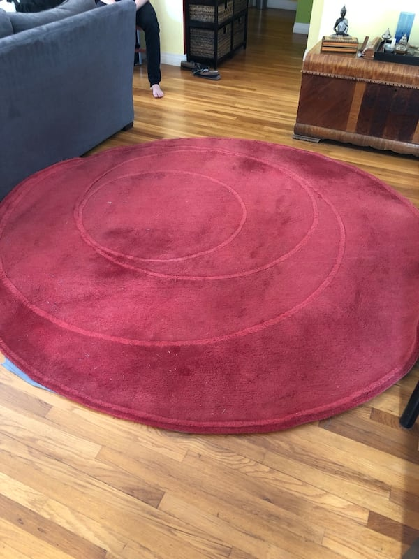 Sold Ikea Red Round Rug In La Mesa Letgo