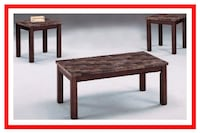 Marbled Top Coffee and End Tables 69 km