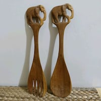 Handmade wood serving pieces - elephant carving  Toronto, M2J 2C2