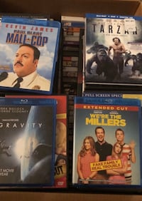 DVDs/ Free Blu Ray DVD Player included with purchase.