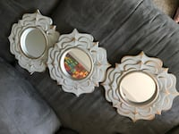 white and brown wooden framed mirror Montréal, H9J 3L2