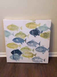yellow, blue, and gray fishes painting New Port Richey, 34652
