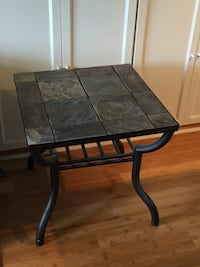 Slate stone stop with metal base end table  Bellevue, 68123