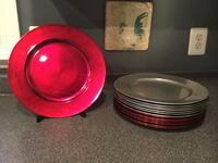 Red & Silver Charger Plates by Pottery Barn Leesburg, 20176