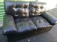 Brown Leather Loveseat- DELIVERY 3 College Park