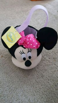 Minnie mouse plush basket brand new with tags Overland Park, 66221