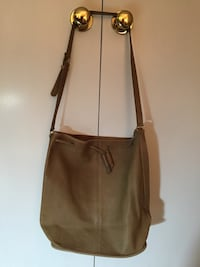 Genuine coach brown leather bucket bag